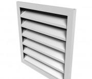 Фасадная вентиляционная решетка алюминиевая ФВР, ФВРН 100x100 мм