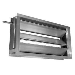Воздушный клапан прямоугольный с площадкой под электропривод 100х100 мм