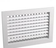 Двухрядная регулируемая решетка алюминиевая ДВР 100х100 мм