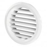 Фасадная круглая решетка алюминиевая ФВРК, ФВРКН Ф400 мм