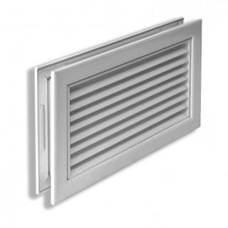 Переточная вентиляционная решетка алюминиевая РП 100x200 мм