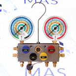 Манометрический коллектор 4х ходовой R22, R134a, R407C, R404A, R507 Mastercool (96203-MB)