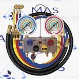 Манометрический коллектор 4х ходовой R22, R134a, R407C, R404A, R507 Mastercool (96261-MB)