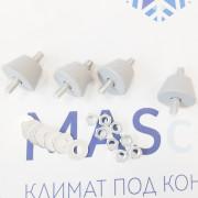 Виброопора для внешнего блока кондиционера 40х20 мм, серая (комплект 4 шт, макс. нагрузка до 50 кг)