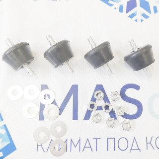 Виброопора для внешнего блока кондиционера 40х20 мм, черная (комплект 4 шт, макс. нагрузка до 80 кг)