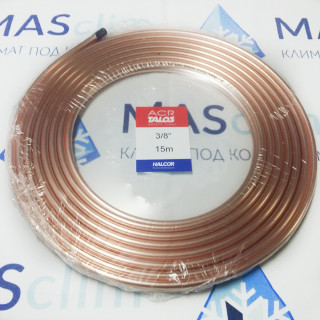 "Медная труба Halcor 3/8"" (9,52x0,81) ASTM B280, 15 м"