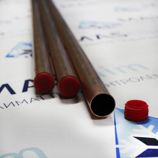 "Медная труба Halcor 1"" (25,4х0,9) ASTM B68 прямой отрезок, 3 м"