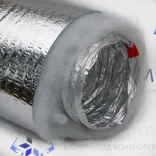 Воздуховод гибкий теплоизолированный ф254 для вентиляции (10м)