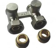 """Двойной узел для нижнего подключения радиатора прямой для 2-х трубных систем 1/2""""х3/4"""" ALTSTREAM"""