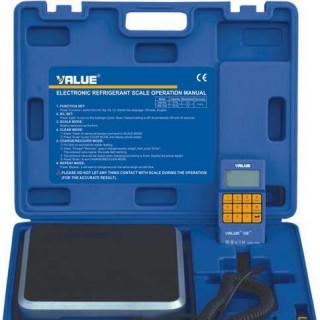Электронные весы для хладагента программируемые с клапаном VALUE VES100B, 100 кг