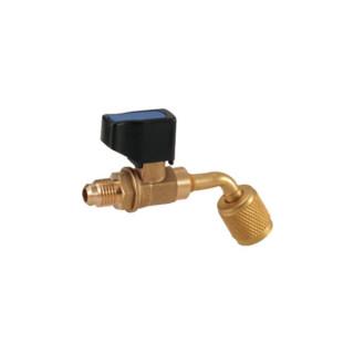 """Вентиль-адаптер Value CV-05 (папа 1/4"""" х папа 1/3"""" SAE; угловой 45 градусов) (R22 x R22)"""