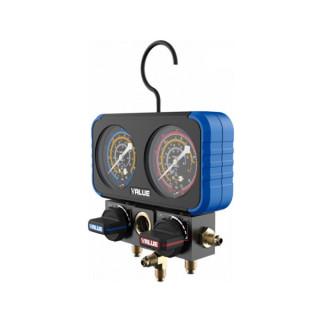 Коллектор манометрический с шаровым вентилем VALUE NAVTEK VRM2-B-0401 (R410A, R22, R134A, R407C)