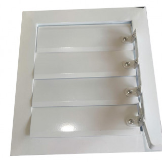 Фасадная регулируемая решетка алюминиевая ФВРР 100х100 мм