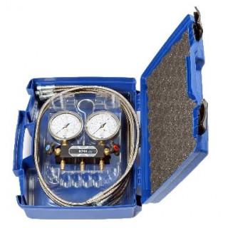 Манометрический коллектор K-SPYPFA4-5-GY5560-LV в кейсе в наборе со шлангами WIGAM